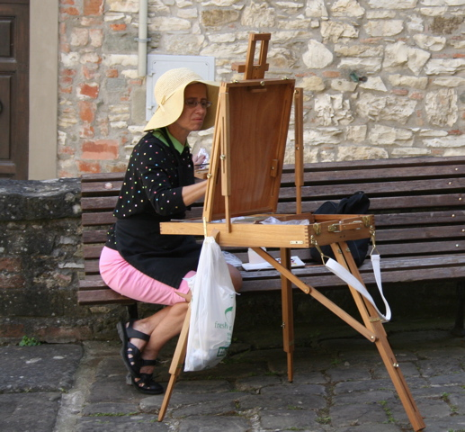 Isabelle Griesmyer Plein Air paionting in Tuscany